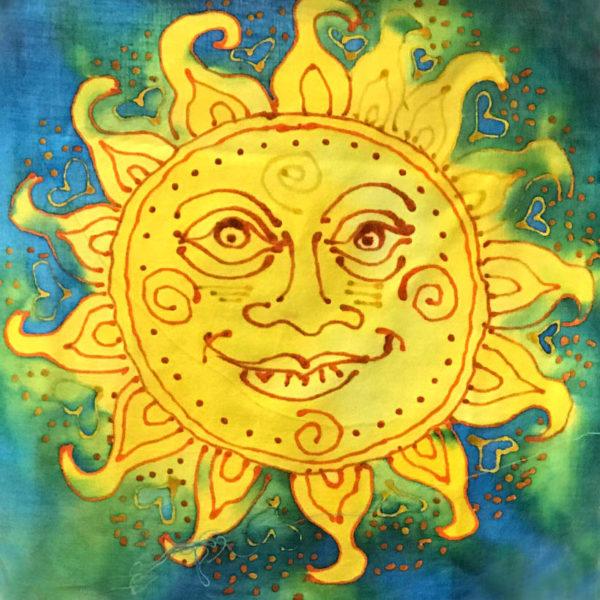 Sun with wax